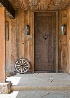 Gorgeous rustic door, and big nailheads.