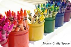 Upcycled Montessori-Style Crayon Holder