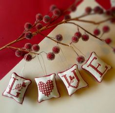 mini stitched ornaments