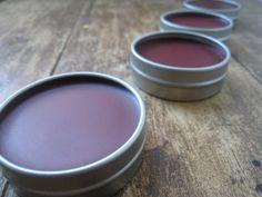 Home made tinted lip balm