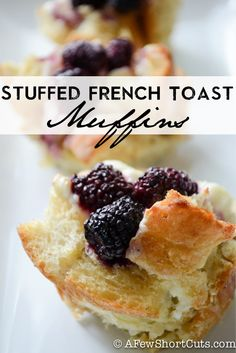 These are epic! Try this EASY Stuffed French Toast Muffins #Recipe
