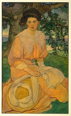 elizabeth shippen green, Watercolor and charcoal  Published in Harper's Magazine,  October 1908