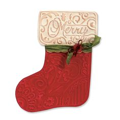 Sizzix - Bigz Die - Christmas - Die Cutting Template with Embossing Folder - Stocking at Scrapbook.com $19.99