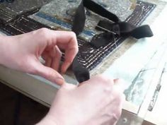 ▶ Binding a Rug With 1 Inch Wool Strips - YouTube