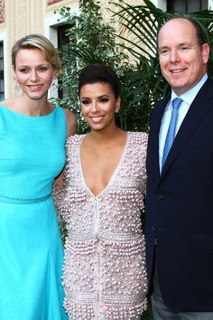 Eva Longoria hangs out with Prince Albert at the Monte Carlo Television Festival