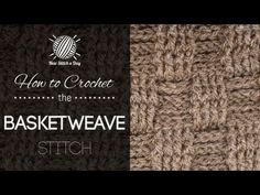 How to Crochet the Basket Weave Stitch (4x4)