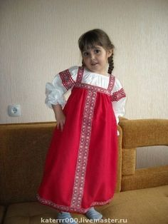 Русский народный костюм для девочек своими руками 30