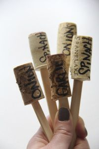 Wine Cork Garden Markers: Super, easy cheap and CUTE.