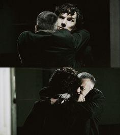 Sherlock and Lestrade's reunion