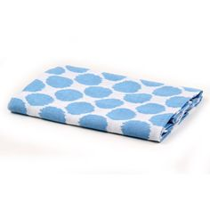Bacati Ikat Set of 2 Crib Sheets, Blue Dots