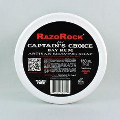 RazoRock for Captain's Choice bay rum artisan shaving soap