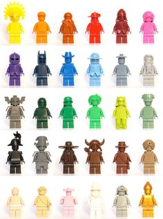 LEGO Color-minifigures #lego #minifigure #legominifigures #mini-fig #minifig