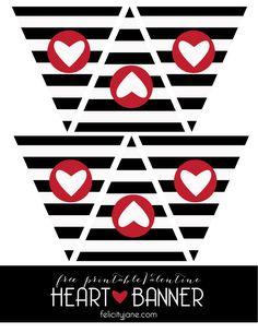 Free Printable Heart Banner | Felicityjane.com