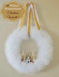 DIY Winter Wonderland Christmas Wreath #wreaths #boawreaths #christmaswreaths