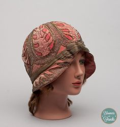 1920s Pink Silk Cloche Hat / 20s Flapper Hat / Great Gatsby Hat via Etsy