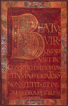 Dagulf Psalter initial B