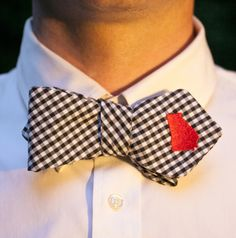 #Georgia bow tie.