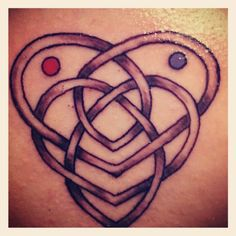 Mother Daughter celtic knot. Birthstones. Tattoo