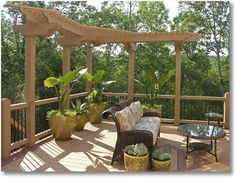 If you're handy,  pergolas and trellises  are a great way to spruce up your garden or patio with a minimum of materials. Many plans are available online with just a simple search.