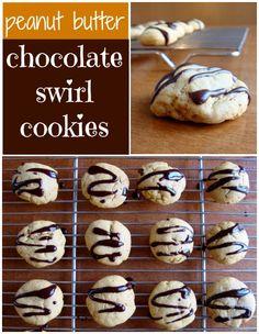 Peanut Butter Chocolate Swirl Cookies #healthy #recipe #dessert