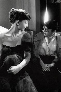 Audrey Hepburn and Edith Head #AudreyHepburn #EdithHead