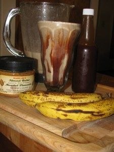 Chocolate, Banana and Almond Butter Smoothie- 151 calories BOOSTS METABOLISM!