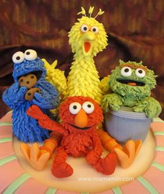 shop, costum, sesame street cakes, big bird, cake recip, sesam street, cake photo, birds, cake topper
