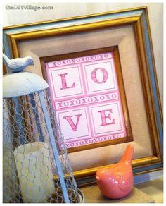Valentine's Day Art {Free Printable } - the DIY village
