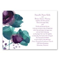 Sultry Blooms - Grapevine - Invitation. Only $79.99 for 100