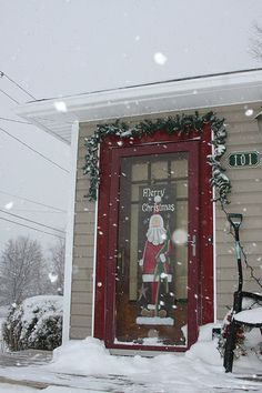front door, christma decor, christma futur, christma creation, merri christma