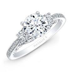 14k+White+Gold+Three+Stone+Diamond+Engagement+Ring++-+14k+White+Gold+Three+Stone+Diamond+Engagement+Ring+