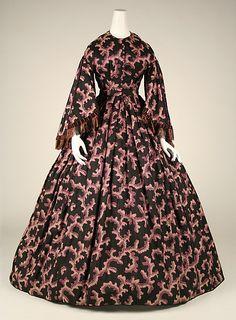 Dress 1860, American, Made of silk