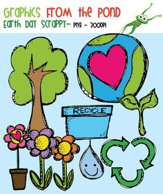 FREE Scrappy Earth Day Clipart from Graphics from the Pond