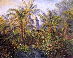 Garden in Bordighera, Morning Effect  / Claude Monet - 1884