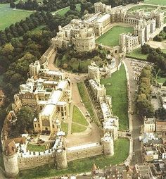 Windsor Castle is a medieval castle and royal residence in Windsor in the English county of Berkshire, notable for its long association with the British royal family and for its architecture. The original castle was built after the Norman invasion by William the Conqueror. Since the time of Henry I it has been used by a succession of monarchs and is the longest-occupied palace in Europe. ♕