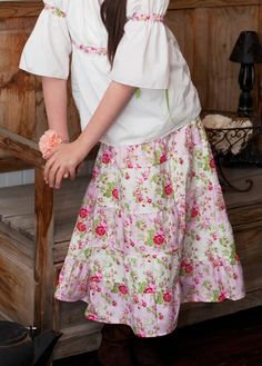 The Amelie RoseTiered Skirt Custom Sizes 2t to girls by OurLegacy on Etsy