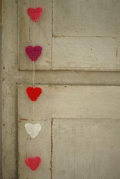 Crochet hearts :)