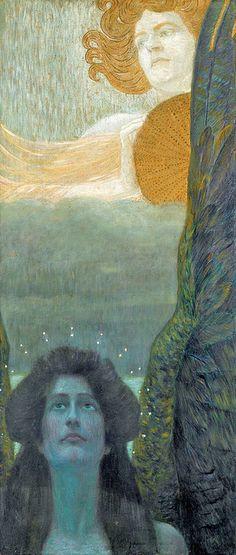 "Wilhelm List, ""Daylight and Twilight"" symbolist art, list austrian, wilhelm list, 18641918, twilight, inspir, artemi dream, art nouveau, daylight"
