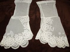 Lace and Net Undersleeves, ca 1850's