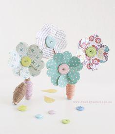 DIY - Flores de Papel para el día de la Madre