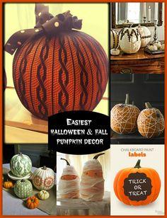 Easiest Pumpkin Decor Ideas for Halloween or Fall | Magazines.com Blog http://blog.magazines.com/easiest-halloween-fall-pumpkin-decor
