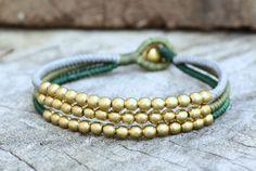 Green Tone Brass Bracelet by brasslady on Etsy, $8.00