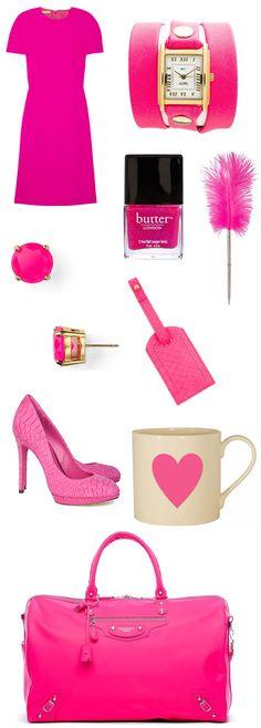 #neon #hot #pink #michael #kors #butter #london #nail #polish #kate #spade #smythson