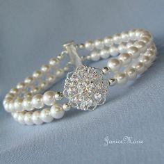 "pearl ""bridal"" bracelet"
