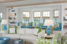 Nantucket beach house living room