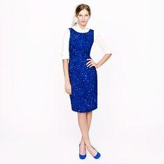 J. Crew Collection blue sequin dress.