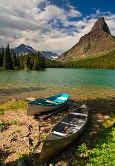 The Call of the Wild, Swiftcurrent Lake in Glacier National Park, USA (by cdmonson).