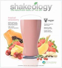 Tropical Strawberry Shakeology (Vegan)
