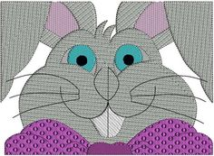 Easter Bunny (4) -Easter Egg-Easter-Bunny-Embroidery Design 3 hoop sizes