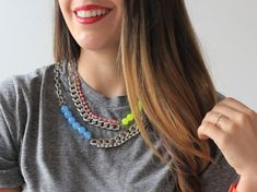 I Spy DIY: MY DIY | Rhinestone & Neon Necklace